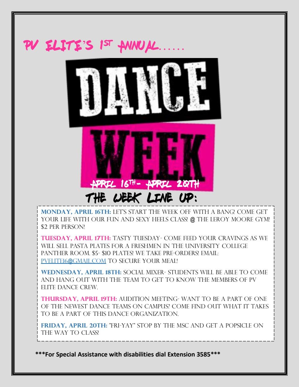 PV ELITE DANCE WEEK 2018 - PVPaw Link
